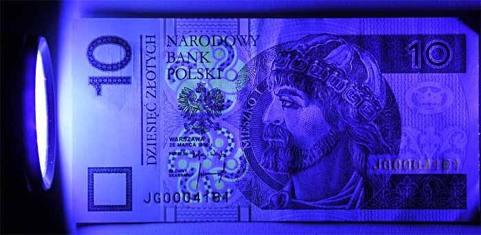 Latarka UV diodowa 41 LED tester banknotów